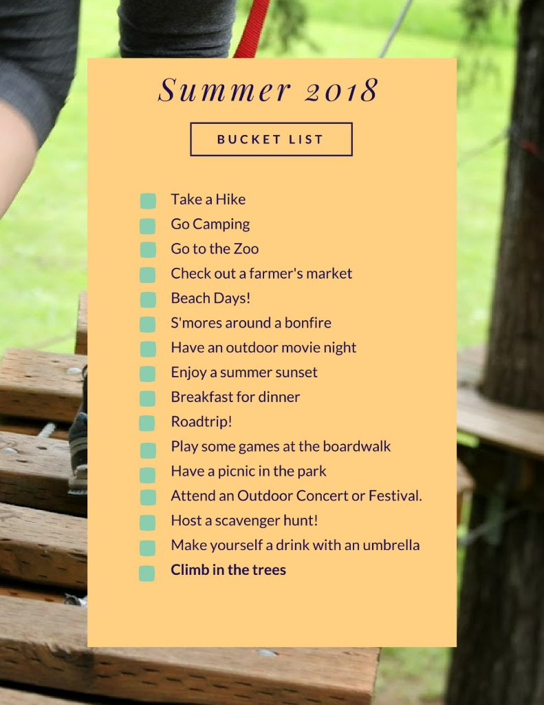Our 2018 Summer Bucket List!